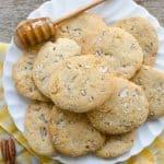 Honey Pecan Slice and Bake Cookies | Easy Make Ahead Cookies