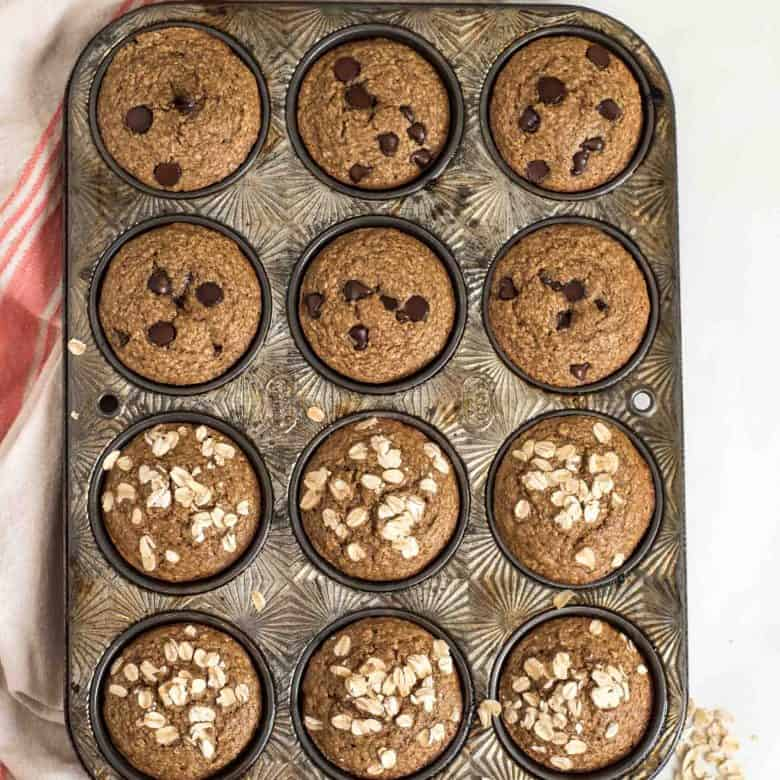 Easy Healthy Banana Muffins Made in the Blender