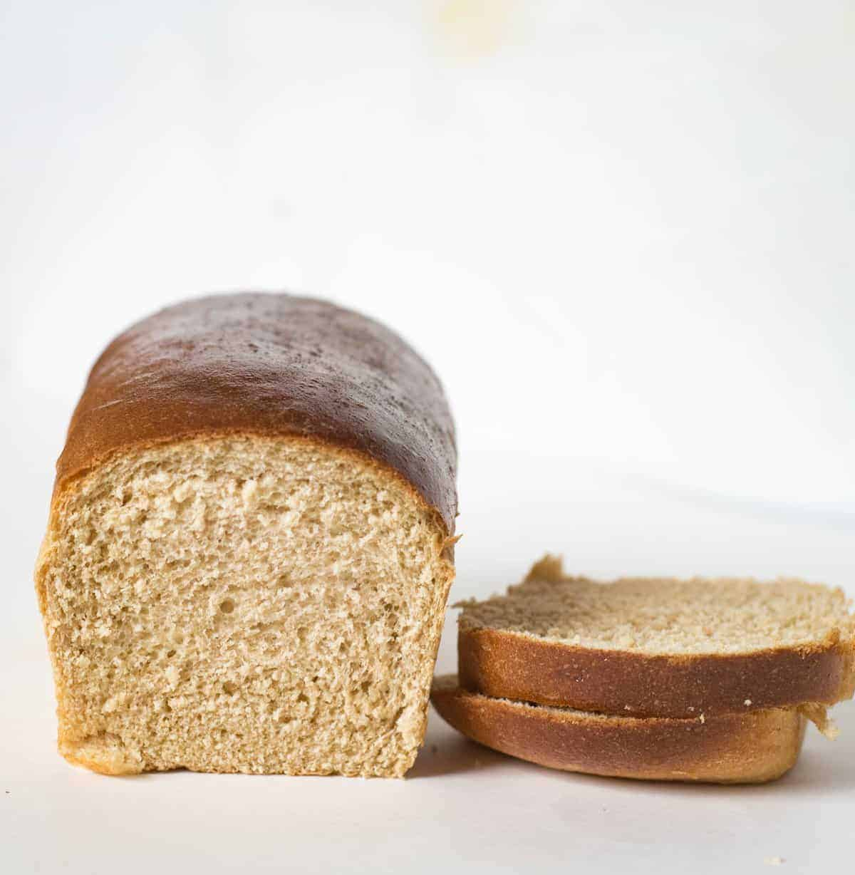 Simple and fool-proof wheat bread recipe that makes four loaves of bread in one batch. This recipe comes from my mom and it's a keeper.