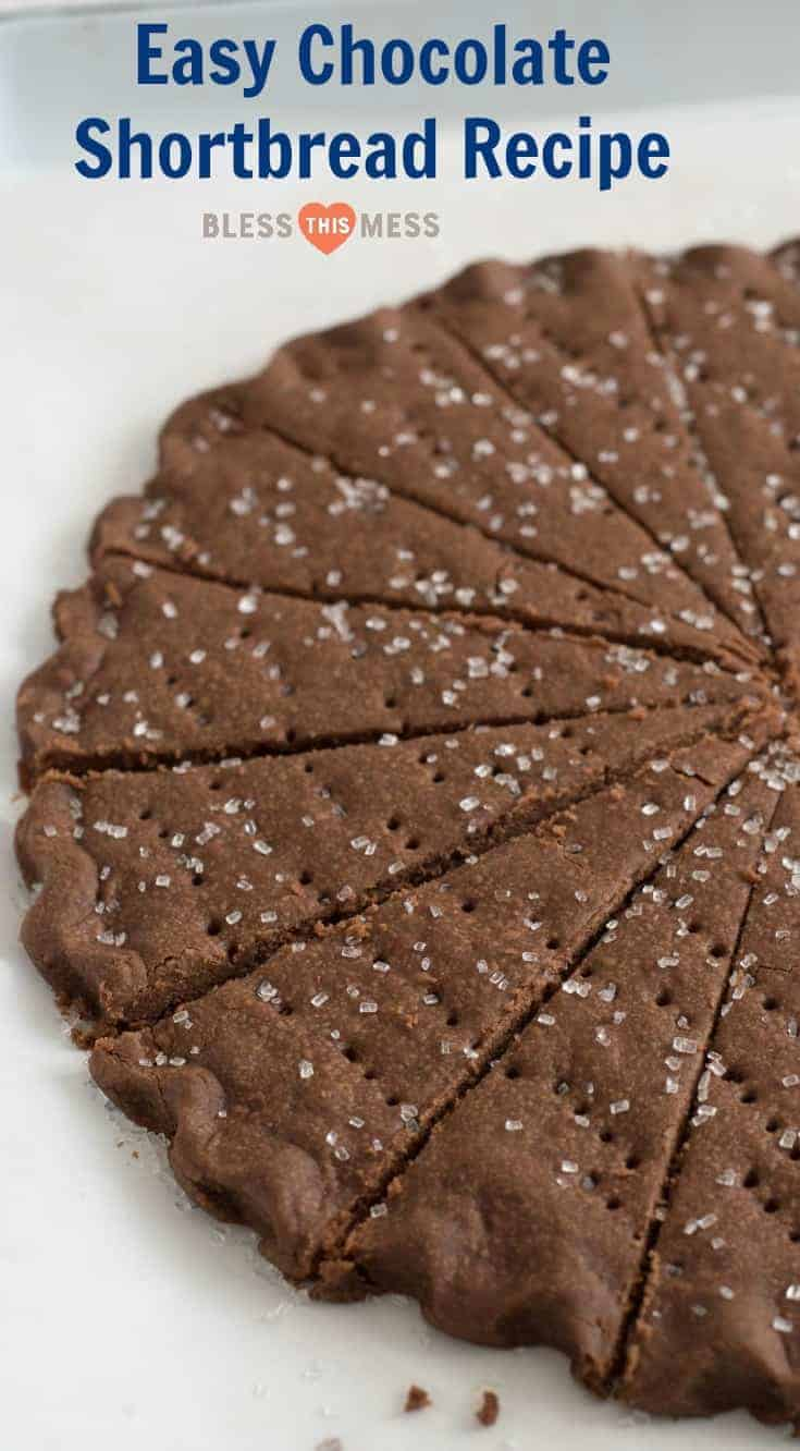 Easy Chocolate Shortbread Cookies Recipe Christmas