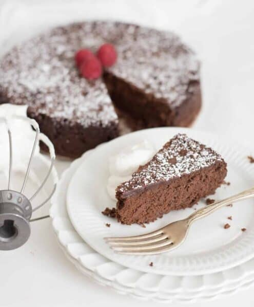 Image of flourless chocolate torte