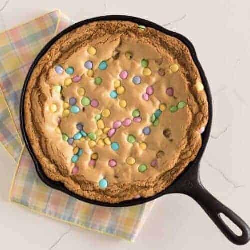 M&M's Skillet Cookie Recipe