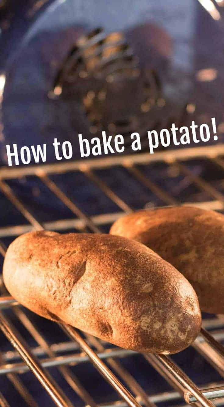 Directions on how to cook potatoes in the oven including oven temperatures, times, and how to do it with and without foil.