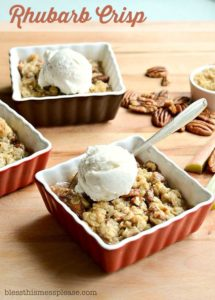 Homemade Rhubarb Crisp | Easy & Delicious Rhubarb Recipe!