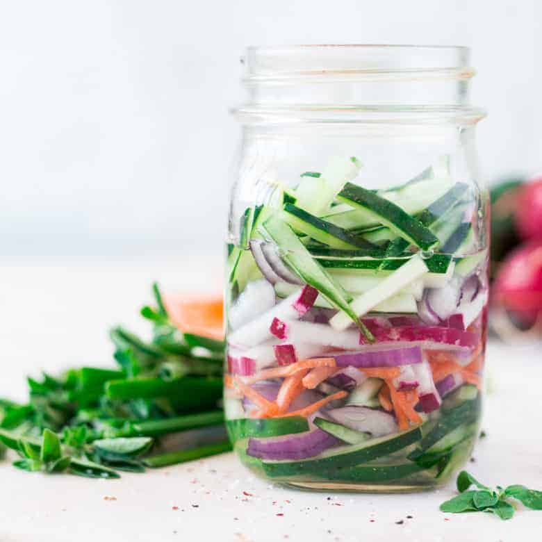 Quick Pickled Cucumbers and Onions