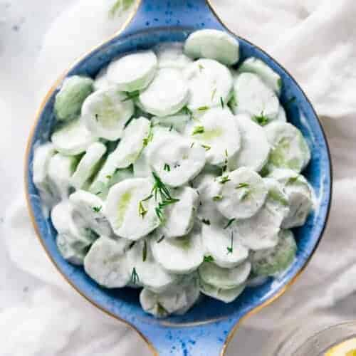 Midwestern Creamy Cucumber and Vinegar Salad
