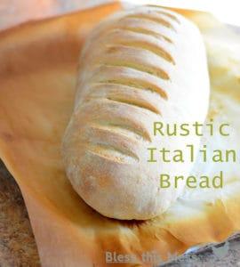 Rustic Italian Bread | Easy Homemade Bread Recipe