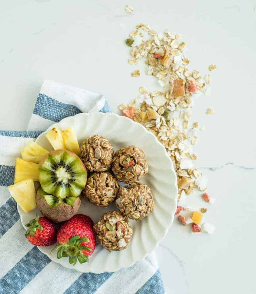 Image of No Bake Muesli Bites and Fruit