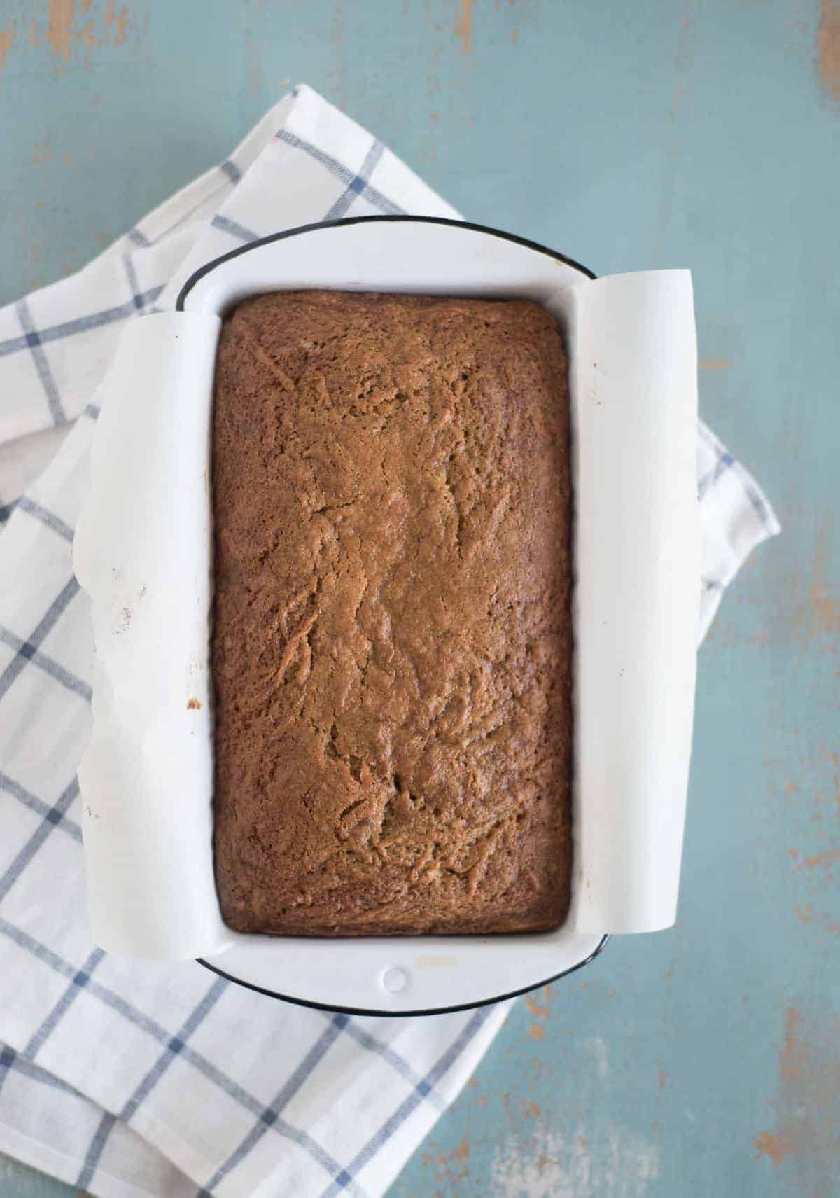 Classic Zucchini bread recipe made with fresh or frozen zucchini, melted butter, and just the right amount of sugar.