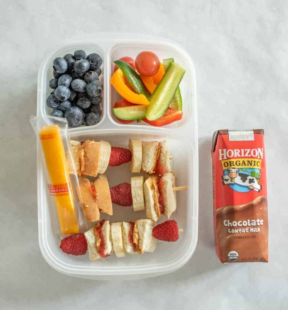 Lunch Box with Sandwiches on a Stick