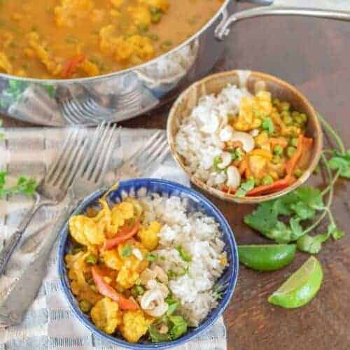 Easy Pumpkin Cauliflower Curry
