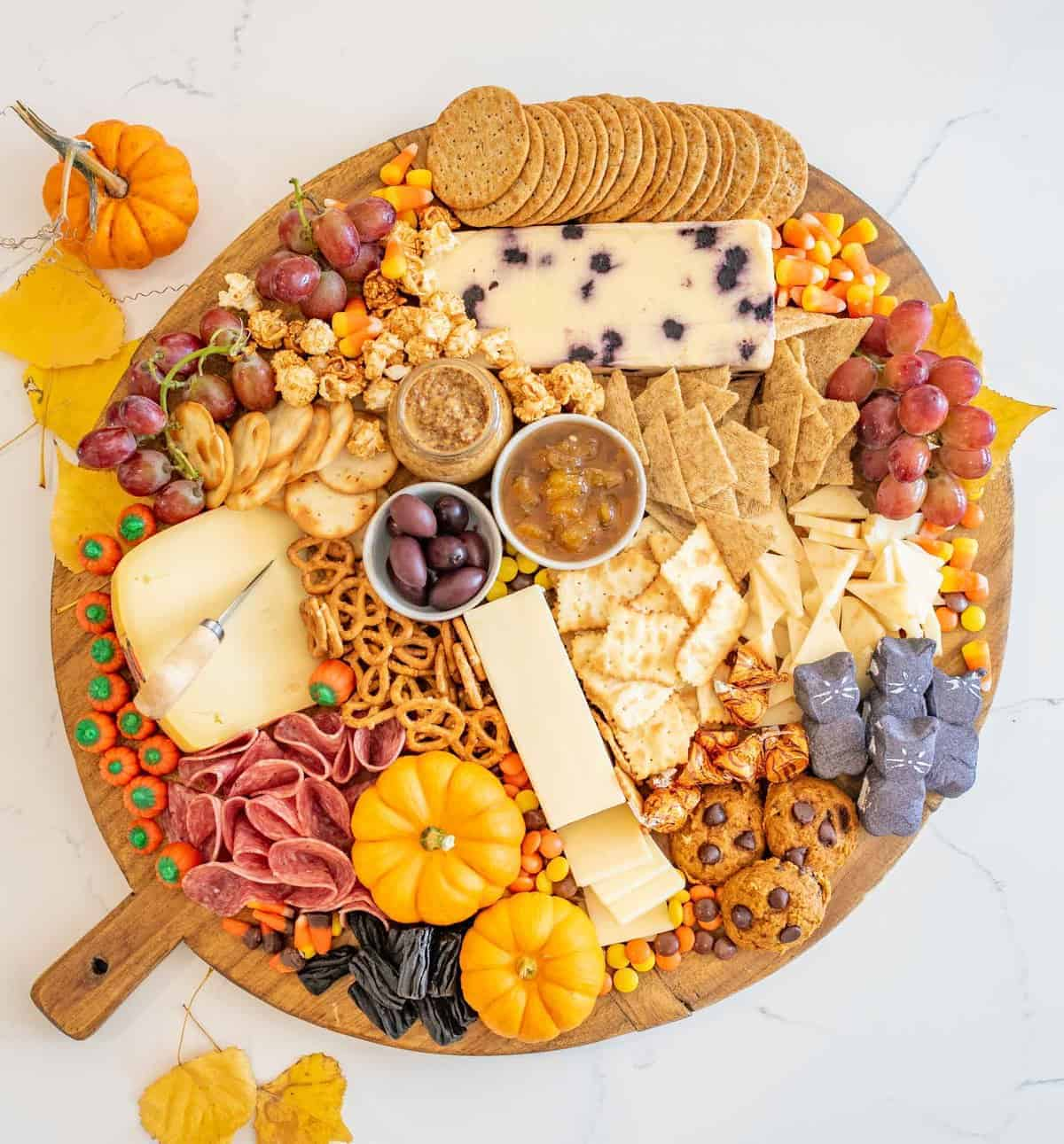 easy halloween cheese board | fun halloween party food idea!