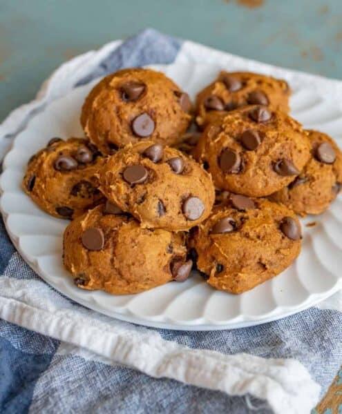 Cake Mix Pumpkin Chocolate Chip Cookies Recipe