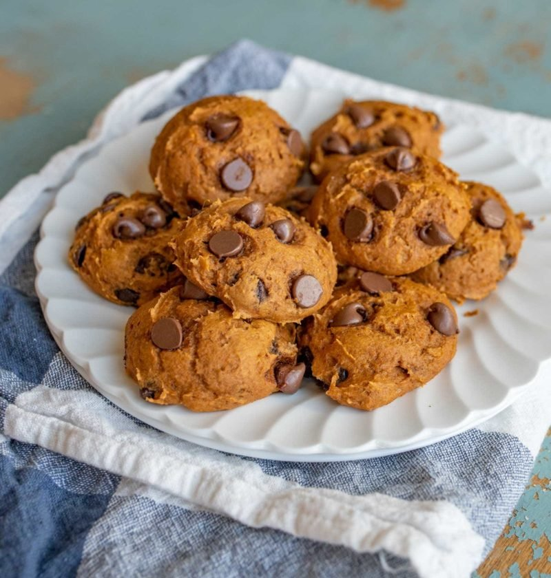 Cake Mix Pumpkin Chocolate Chip Cookies Recipe