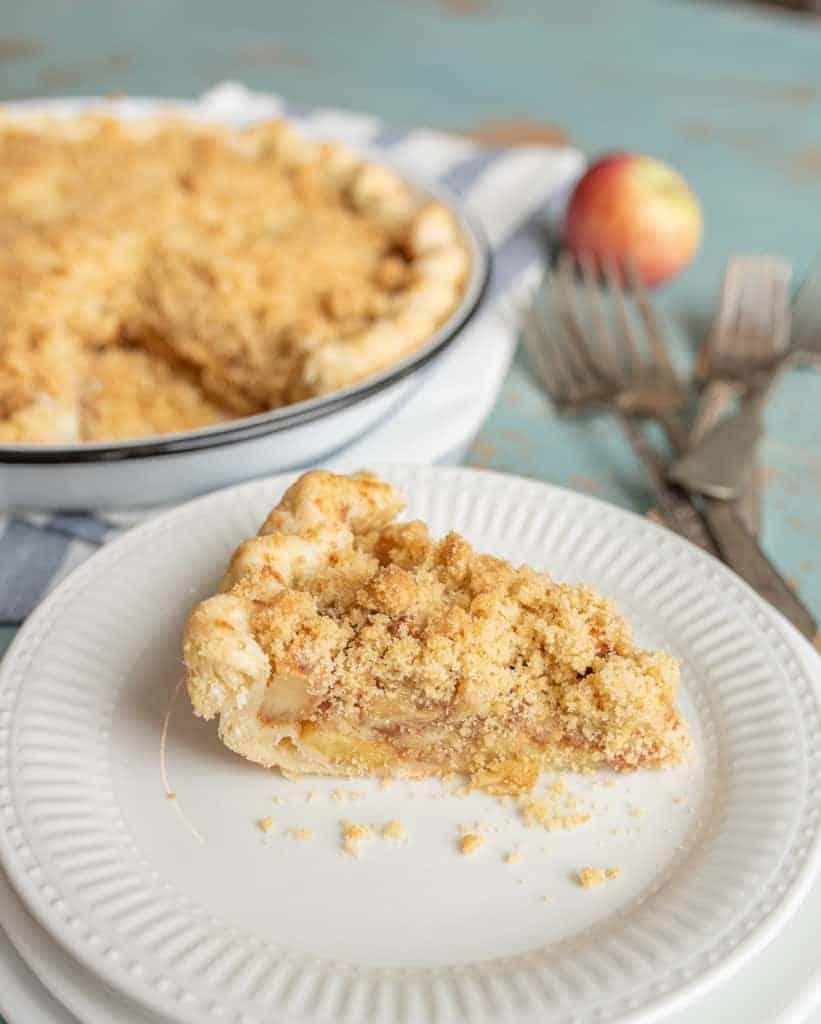 Image of a Slice of Dutch Apple Pie