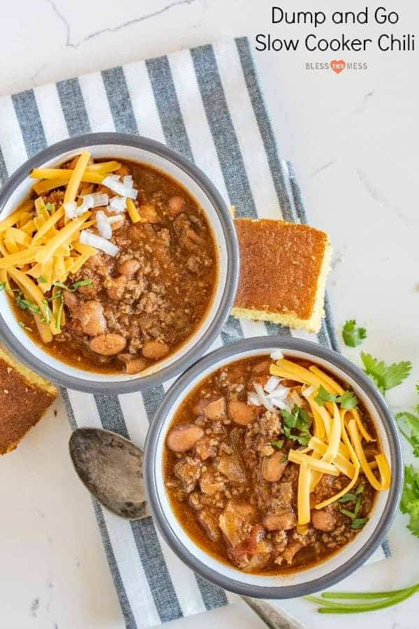 Quick and easy slow cooker chili made with all the classics like beans, tomatoes, and ground beef but contains two other surprising ingredients that will add tons of flavor with no extra work.