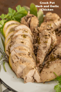 Garlic & Herb Crock Pot Whole Chicken | Slow Cooker Chicken Recipe