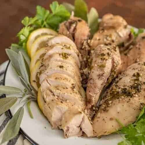 Garlic and Herb Whole Chicken in the Crock Pot