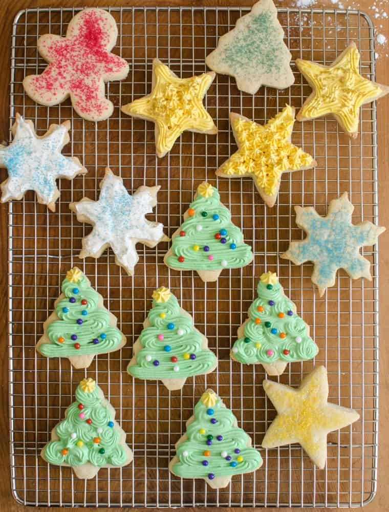 Soft and tender Christmas sugar cookies that are sweet and keep their shape very well and are perfect for decorating; Grandma Lucy's secret recipe!