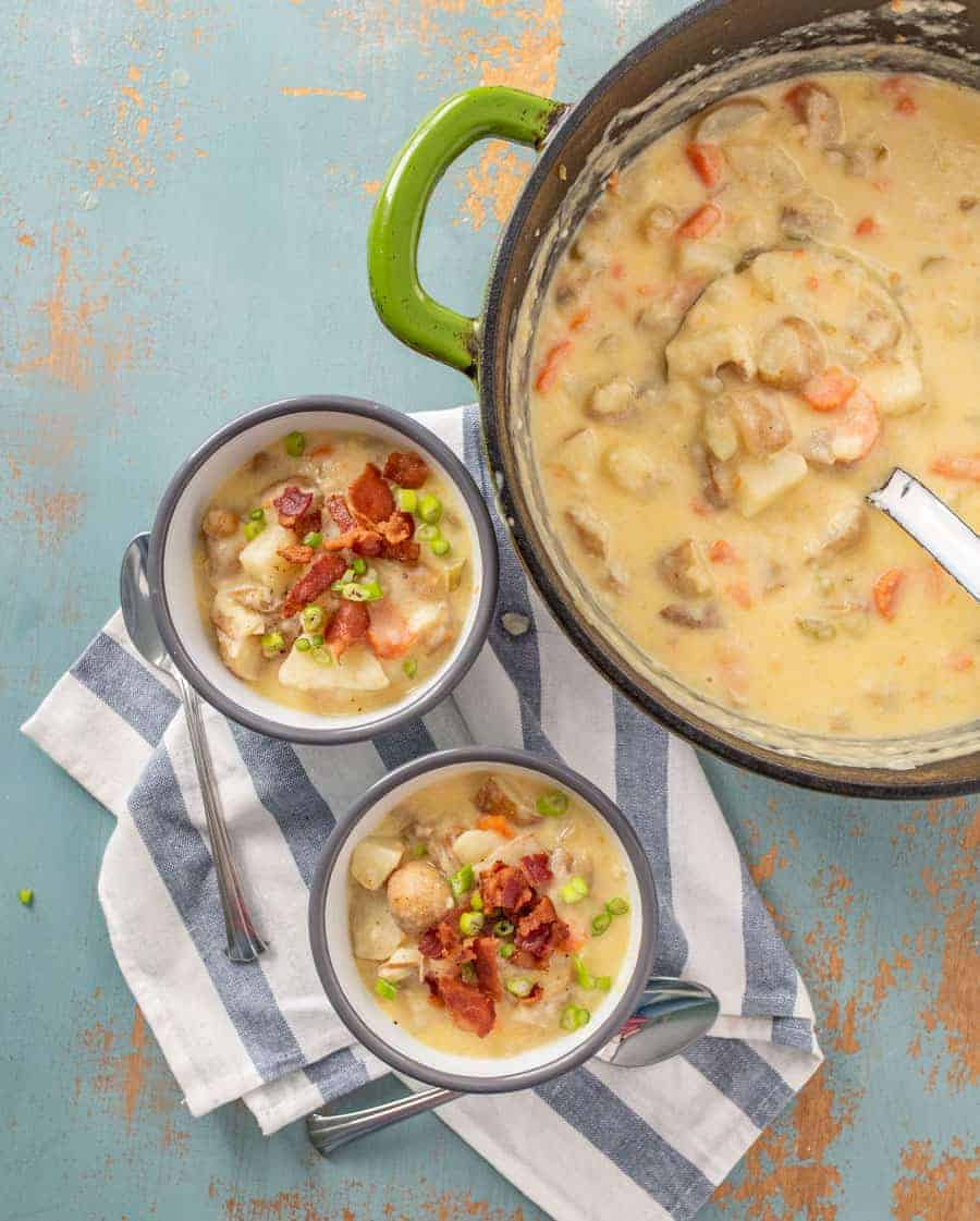 Classic & Creamy Potato Chowder Recipe | Slow Cooker or Instant Pot