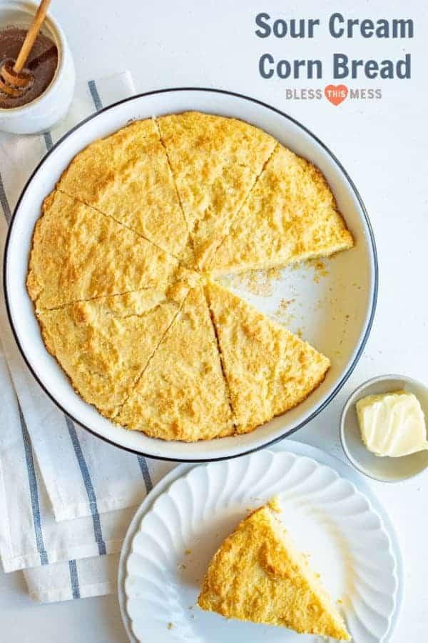 Sour Cream Cornbread Recipe | Easy Sweet Cornbread Recipe