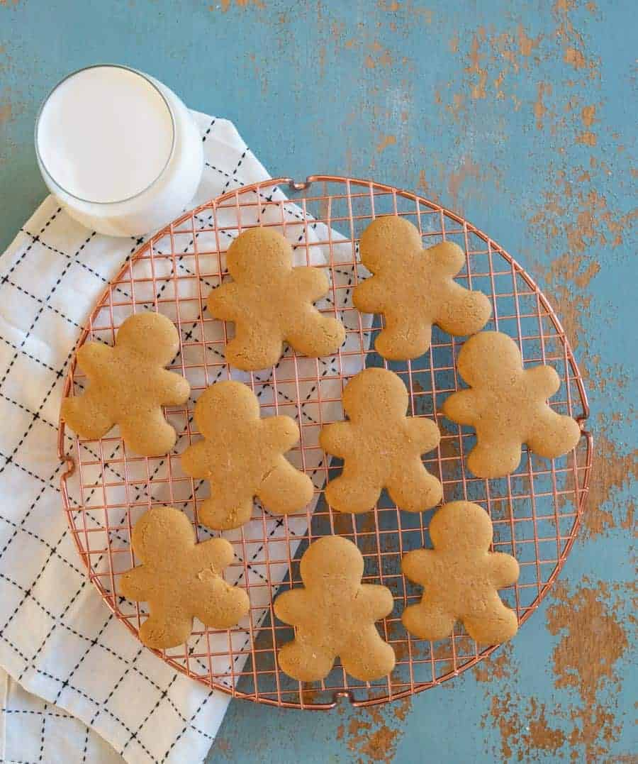 The best gluten free gingerbread cookies that are sweet, perfectly spiced, and made with only one specialty ingredient that's easy to find!