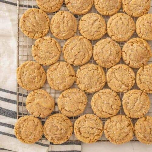 Perfect Chewy Peanut Butter Cookies