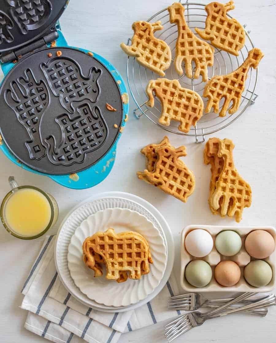 The best homemade whole wheat waffles that are light, fluffy, and baked with whole grain goodness are the perfect breakfast for any day.