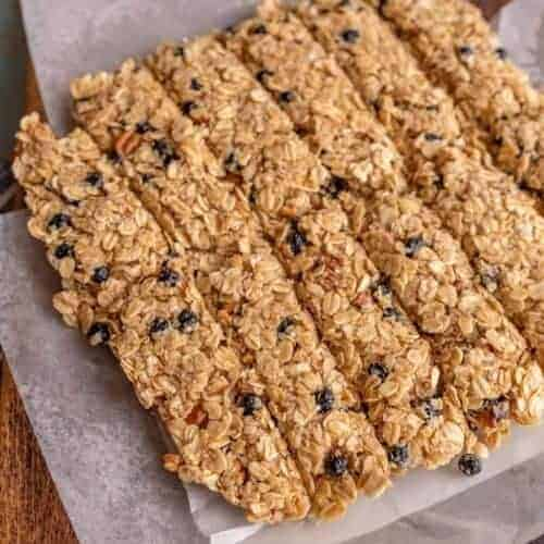 My Favorite Blueberry Pecan Granola Bar Recipe