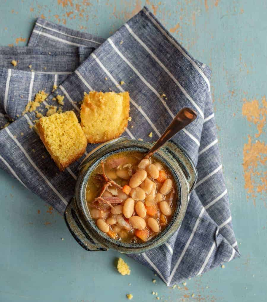 Classic Ham and Bean Soup (Instant Pot or Slow Cooker recipe