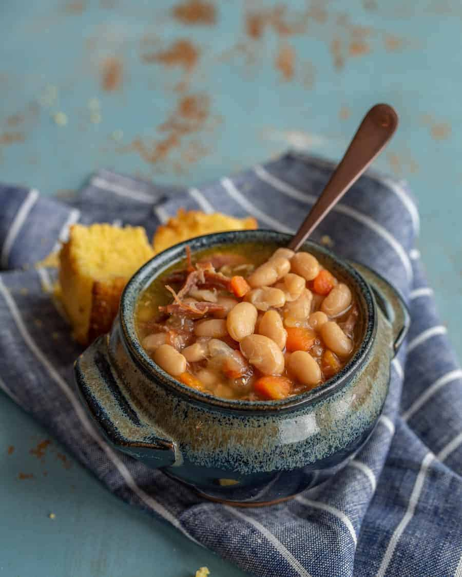 Classic Ham And Bean Soup Instant Pot Or Slow Cooker Recipe Bless This Mess