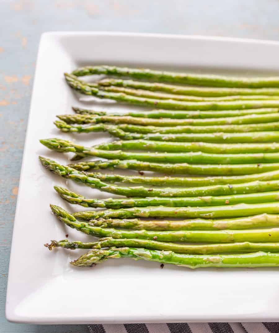 asparagus spears on a plate