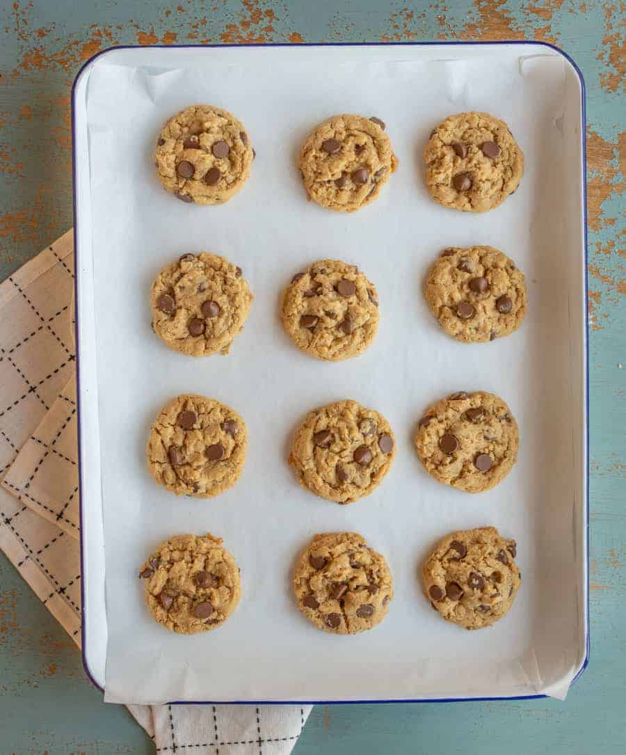 A twist on classic oatmeal cookies - peanut butter chocolate chip oatmeal cookies which is a combination of your three favorite cookies all rolled into one.