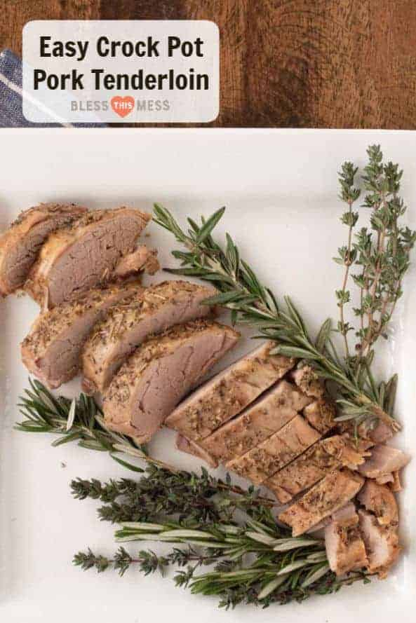 Garlic Herb Crock Pot Pork Tenderloin | Easy Pork Tenderloin Recipe