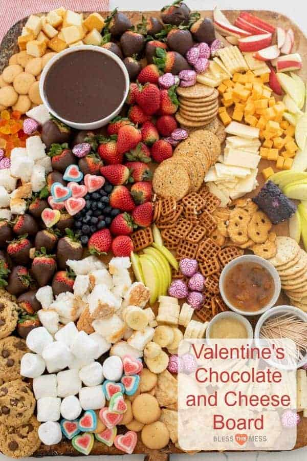 Valentine's Chocolate and Cheese Board | Easy Valentine's Day Idea