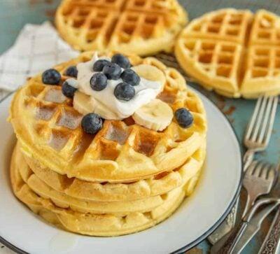 Classic Belgian Waffle Recipe | Easy Recipe for Fluffy + Crisp Waffles!