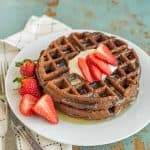Has there ever been a better word combination than CHOCOLATE WAFFLES? I think not. This fluffy, rich chocolate waffle recipe may seem like a dessert, but they aren't overly sweet--making them the perfect unexpected breakfast item.