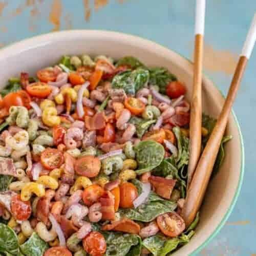 Spinach Bacon Pasta Salad
