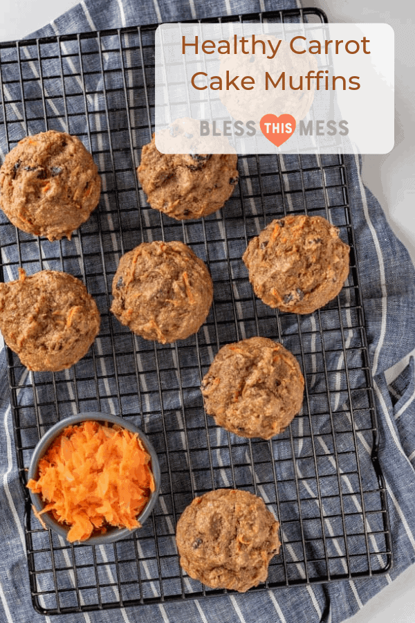 carrot cake muffins on a rack