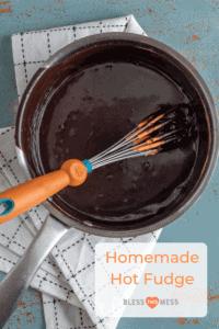 homemade hot fudge in a bowl