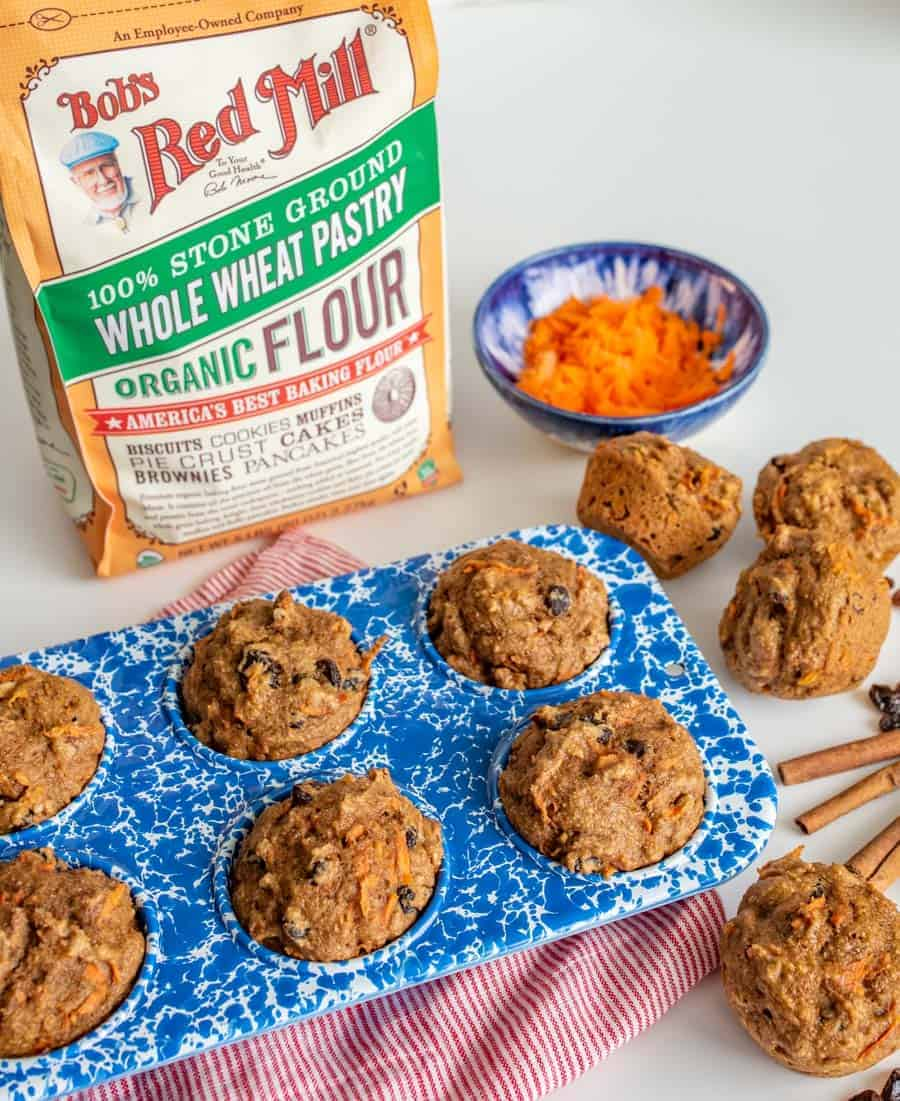 Healthy Carrot Cake Muffins are a nourishing spin on a springtime classic and have all the flavors you love in carrot cake (raisins, nuts, carrots), plus you can get away with having them for breakfast. And that's just a win-win.