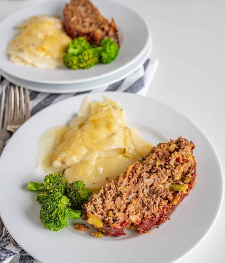 Bop's Favorite Meatloaf Recipe is a super savory and easy comfort food that's generously flavored with onion, green bell pepper, spices, and of course, ketchup.