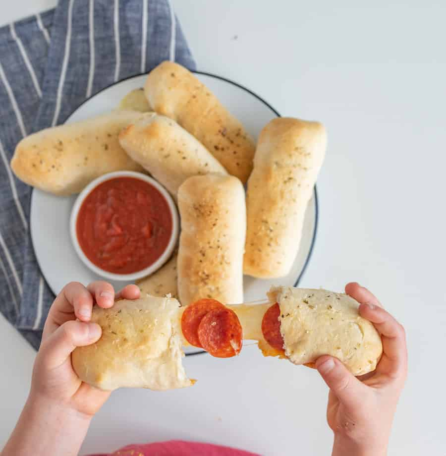 Pizza just got a snackable upgrade with these buttery and filling individual Pepperoni Pizza Sticks.