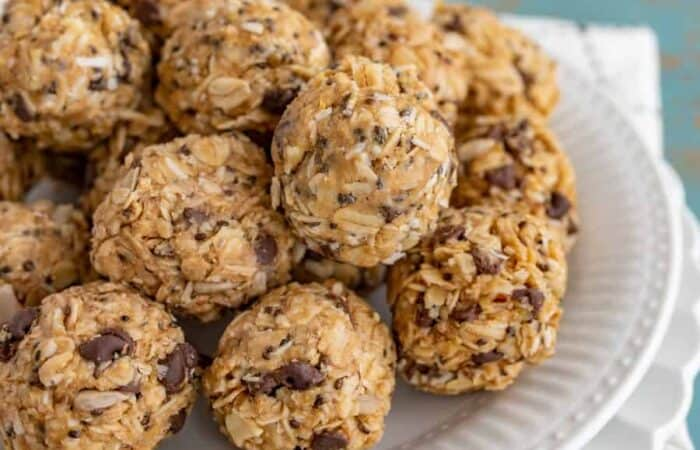 Extra Protein Oatmeal Bites pack a ton of nutrients, fiber, and protein for a well-balanced snack that tastes reminiscent of a healthy peanut butter cup.