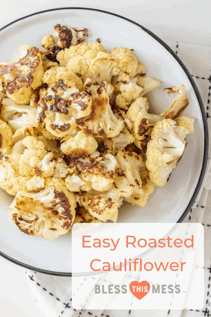 Easy Roasted Cauliflower only requires three basic ingredients and comes together to make a crunchy, decadent side to any meal.