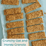 Crunchy oat and honey granola bars are sweet and packed with wholesome ingredients, plus they travel well, making them the perfect contenders for snacks on-the-go or boxed lunches!