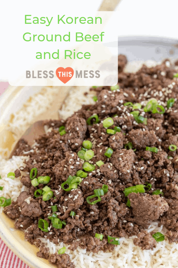 Super flavorful and simple to toss together, Easy Korean Ground Beef and Rice is a staple weeknight meal that the whole family will love.