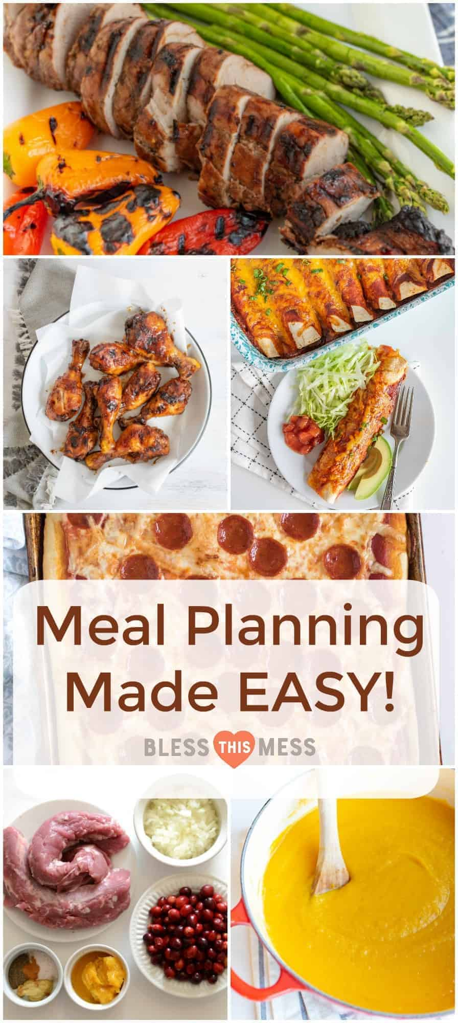 Meal planning doesn't require blood, sweat, and tears -- with my guide and free printable calendars, you can experience my busy-proof, tried-and-true 3 steps to EASY meal planningASAP!
