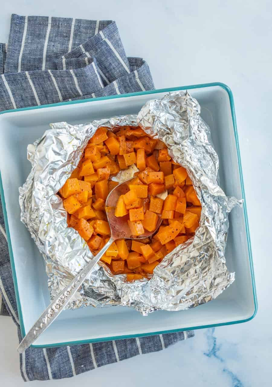 Fire up the grill and make grilled butternut squash in a foil packet for a super simple side that's perfect for fresh summer meals!