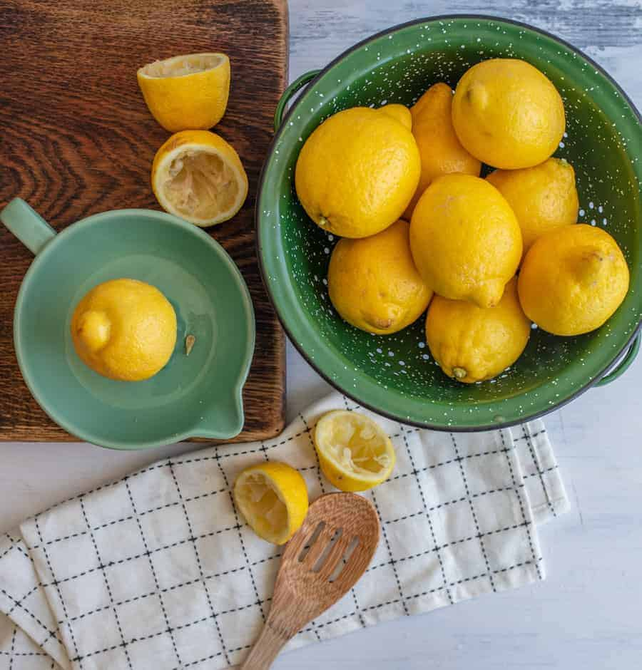 Easy Homemade Lemonade is refreshing and bright with fresh lemon juice and a bit of sugar to balance the sweet and sour.